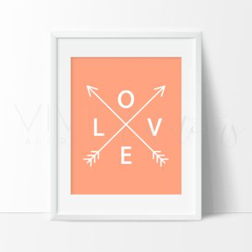 Coral Love Arrows