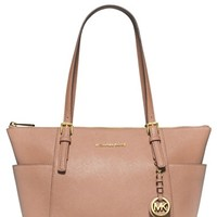 MICHAEL Michael Kors 'Jet Set' Leather Tote