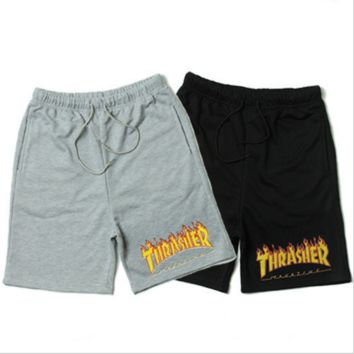 THRASHER print Hip-hop skateboard casual sport  shorts