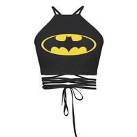 Tank Crop top funny weed lesf 3d print clothing Emoji girl Women Summer Style Harajuku Batman Brandage String Sleeveless
