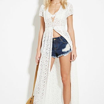 Floral Lace Duster