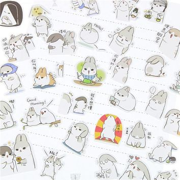 Chubby Rabbit Series Pet Sticker Pack
