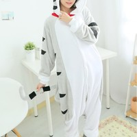 Flannel Pajamas Onesuits Hooded Conjoined Animal Pajama Chi's Sweet Home Cosplay Costumes Chi Cat Pyjama Halloween free shipping