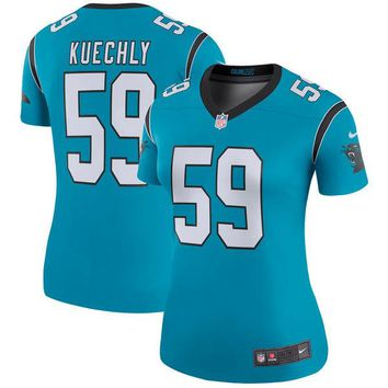 Women's Carolina Panthers Luke Kuechly Nike Blue Color Rush Legend Jersey