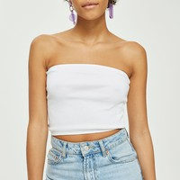 Cropped Length Bandeau Top | Topshop