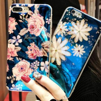 Flower Blue Rose Iphone6 Iphone6 Mobile Phone Case With Iphone7plus Silicone Female 8p Soft Shell Personality Creativity