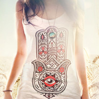 HAMSA ~ Hand of Fatima ~ Women's tank top