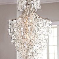 """Dripping Capiz"" Chandelier - Horchow"