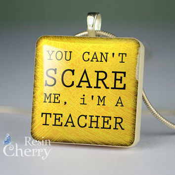 quote scrabble tile pendant,teacher quote resin pendants,jewelry pendant,quote glass pendant- P1166SP