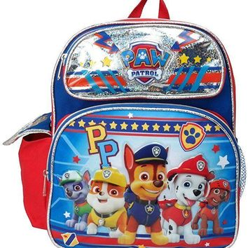 "NEW ARRIVE Paw Patrol PP Chase, Marshall, Tan 12"" Toddler Backpack For Boys"