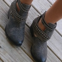 NAUGHTY MONKEY Desert Storm Fishtail Black Ankle Boots
