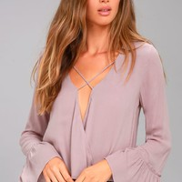Ryland Mauve Long Sleeve Top