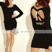 Women Cotton Skull Long Sleeve Dresses - DinoDirect.com