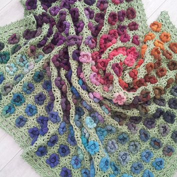 Crochet Pattern, Monet's Garden Throw, Afghan, Blanket