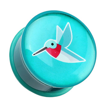 Papier Hummingbird Single Flared Ear Gauge Plug
