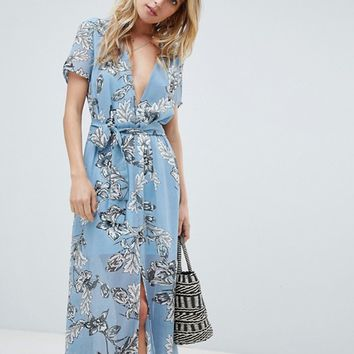 PrettyLittleThing Floral Maxi Dress at asos.com