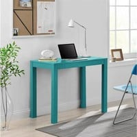 Ameriwood Home Parsons Teal Desk with Drawer | Overstock.com Shopping - The Best Deals on Computer Desks