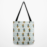 Honey Bee Tote Bag by Cat Coquillette