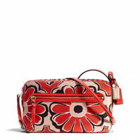 poppy flight bag in floral scarf print fabric
