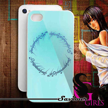 Lord of the Rings Circle Script for iPhone 4/4S, 5/5S, 5C and Samsung Galaxy S3, S4 - Rubber and Plastic Case