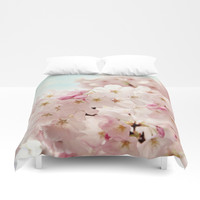 cherry blossoms Duvet Cover by sylviacookphotography