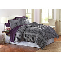 Walmart: Better Homes and Gardens 7 Piece Comforter Set, Grey Quinn