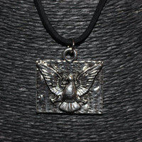 Silver Dove Peace Pendant Necklace