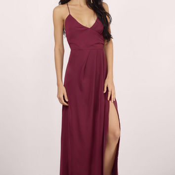 Talk Of The Town Wrap Maxi Dress $60