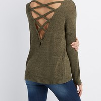 Caged-Back Sweater | Charlotte Russe
