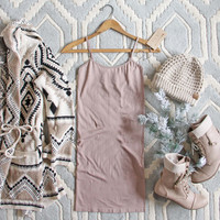 The Mercer Basic Tank Dress in Taupe