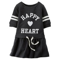 Carter's ''Happy Heart'' Varsity Dress - Baby Girl, Size: