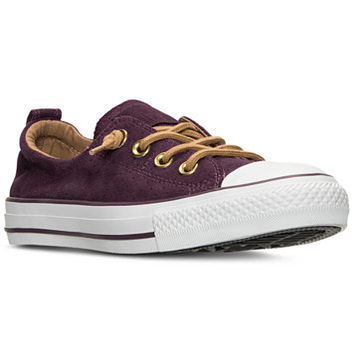 Converse Women's Chuck Taylor Shoreline Peached Canvas Casual Sneakers from Finish Line | macys.com