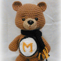 Team Spirit Bear ; CROCHET PATTERN PDF