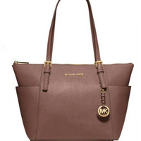 Michael Michael Kors East West Jet Set Saffiano Top Zip Tote