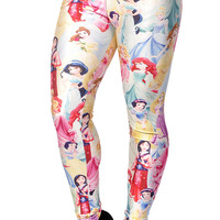 BadAssLeggings Women's Disney Princesses Leggings Medium