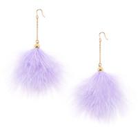 Pastel Purple Furry Earrings