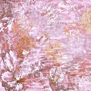 Autumn Abstract In Golden Pink Poster