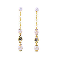 Linear Pearl Earrings
