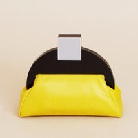Deco Clutch Bag - Yellow   NOT JUST A LABEL