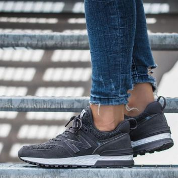 hcxx New Balance 574 Sport Suede Pack 'Castlerock with White'