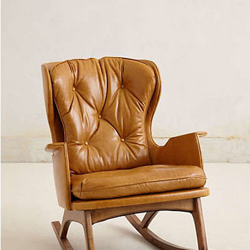 Anthropologie - Leather Finn Rocker