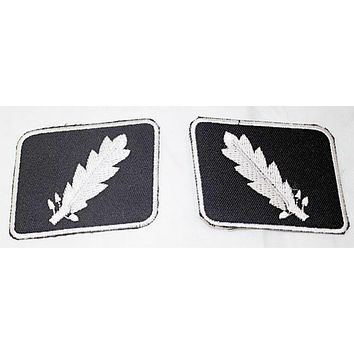 WWII WW2 SS Standartenfuhrer Colonel collar tabs 2 Small Patch Set SB399