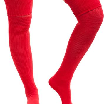 Vintage Deadstock American Apparel Red Rib Knit Thigh Highs