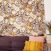 Mila Stone-Washed Floral Tapestry - Urban Outfitters