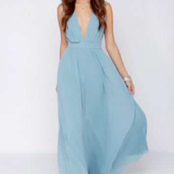 Tale of Wonder Light Blue Maxi Dress
