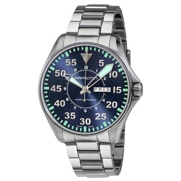 Hamilton Khaki Aviation Blue Dial Mens Watch H64715145