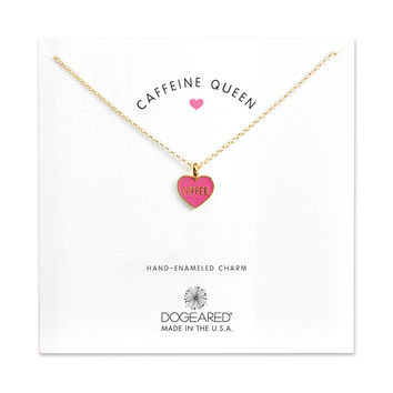 Caffeine Queen, Coffee Heart Necklace, Gold Dipped   Dogeared