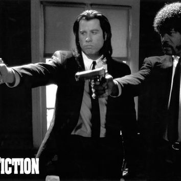 Pulp Fiction Guns Poster