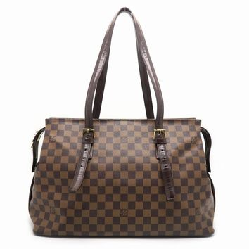 Louis Vuitton Damier Chelsea Shoulder Bag Brown 6863