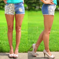 Livin' In Lace Shorts